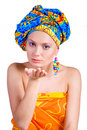 Free Beautiful Girl With In Colorful Clothes And Hat Royalty Free Stock Photography - 9402607