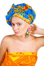Free Beautiful Girl In Colorful Clothes Royalty Free Stock Photography - 9402647
