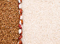 Free Buckwheat And Rice Background Royalty Free Stock Images - 9405459