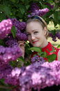Free Young Woman With Flowers Royalty Free Stock Photo - 9405785