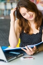 Free Young Pretty Caucasian Lady Using Laptop Outdoors Royalty Free Stock Photo - 9408425