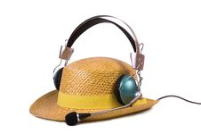 Free Music Lover In Straw Hat Stock Photo - 9400030