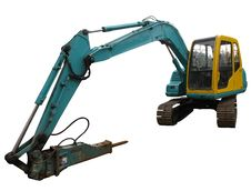 Free Mechanical Digger Isolated Stock Photo - 9400180