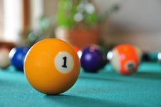 Free Billiard Balls Royalty Free Stock Images - 9400859
