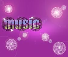 Free Music In Pink Royalty Free Stock Photography - 9400877