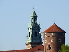Free Wawel Hill Wawel Castel Krakow Royalty Free Stock Photos - 9400888