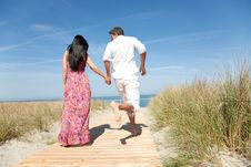 Free Couple At The Beach Stock Images - 9401804