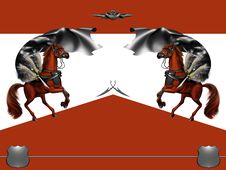Free Red Horse Royalty Free Stock Photography - 9402477