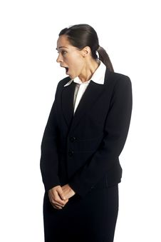 Free Shocked Businesswoman Royalty Free Stock Photography - 9402787