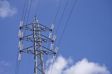 Free Energy, Led By The Transmitting Tower Stock Photography - 9403082