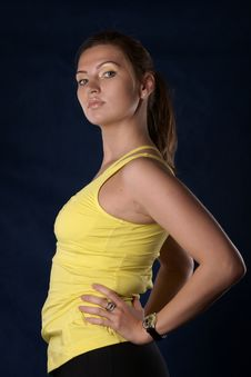 The Sports Girl Royalty Free Stock Photography