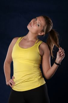 The Sports Girl Stock Photography