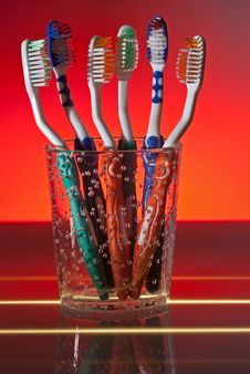 Free Toothbrushes Royalty Free Stock Photography - 9403237