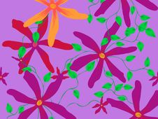 Free Violet Star Flower Pattern Stock Photo - 9404020