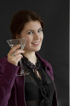 Free Woman With Cocktail Royalty Free Stock Photos - 9404198