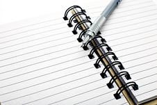 Free Pen On Notebook Stock Photo - 9404530