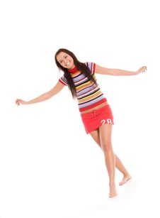 Free Happy Young Woman Stock Image - 9404561
