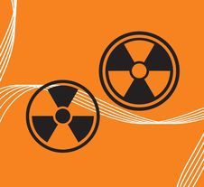 Free Vector Sign On Radiation Royalty Free Stock Photos - 9404588