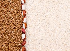 Buckwheat And Rice Background Royalty Free Stock Images