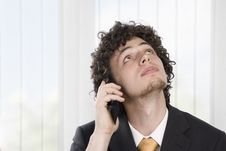 Free Business Man With Mobile Phone Stock Photo - 9405470