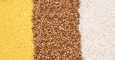 Free Millet, Buckwheat, Rice Background Royalty Free Stock Images - 9405499
