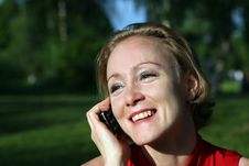 Free Woman With Mobil Phone Stock Images - 9406014