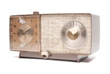 Free Vintage Clock Radio Isolated Stock Image - 9406711