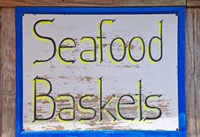 Seafood Baskets Royalty Free Stock Photos