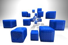 Free 3d Glitter Cubes Royalty Free Stock Photo - 9407205