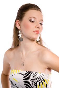 Free Girl With Earring And Make-up Stock Photo - 9407630