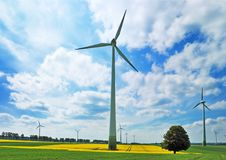 Free Wind Turbines In Green Meadows Royalty Free Stock Photos - 9407688