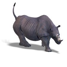 Free Rhinoceros Rendering Stock Images - 9407774