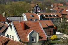 Tile Rooftops Stock Image