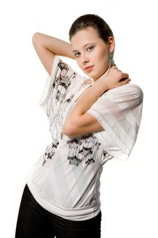 Free Beautiful Girl In Nice Clothes Stock Photography - 9408242