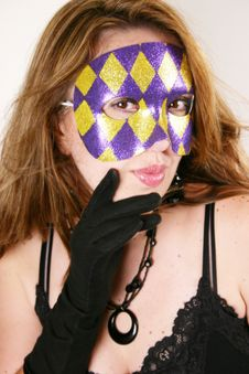 Free Black Lace And Domino Mask Royalty Free Stock Photos - 9408488
