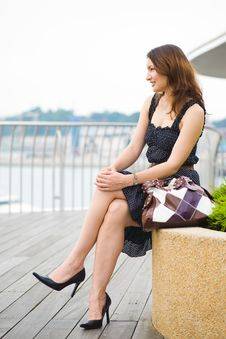 Young Pretty Caucasian Lady Outdoors Stock Photos