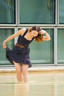 Free Young Pretty Caucasian Lady Outdoors Stock Photo - 9408680