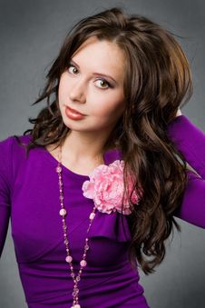 Free Beautiful Brunette Girl Royalty Free Stock Images - 9408749