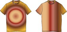 Free Fashion Clothes Color T-shirt Shape Illustration Stock Photography - 9408912