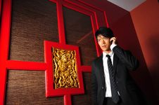 Free Smart Asian Man In Temple Stock Images - 9409164