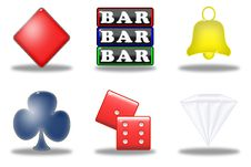 Free Slot Machine Simbols (01) Royalty Free Stock Photo - 9409165