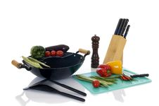 Free Preparing Wok Stock Images - 9409174