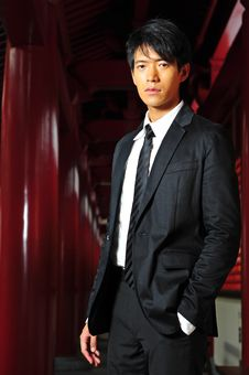 Smart Asian Man In Temple Stock Images