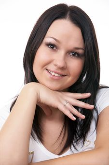 Close-up Portrait Of Caucasian Young Woman Royalty Free Stock Photo