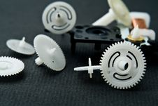 Free Cog-wheels From A Clock Royalty Free Stock Image - 9409906