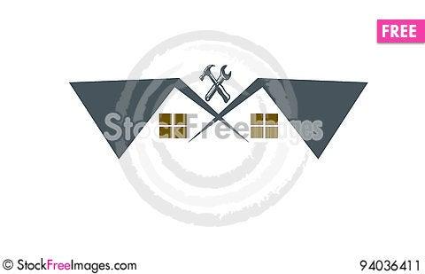 Free House Renovation Logo Stock Image - 94036411