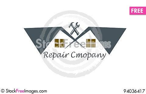 Free House Renovation Logo Royalty Free Stock Photography - 94036417