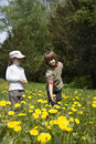 Free Little Girls On The Spring Meadow Royalty Free Stock Photos - 9410778