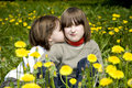 Free Little Girls On The Spring Meadow Stock Images - 9410814