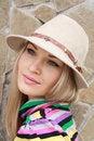 Free Beautiful Blonde Near Fence Stock Photos - 9415233